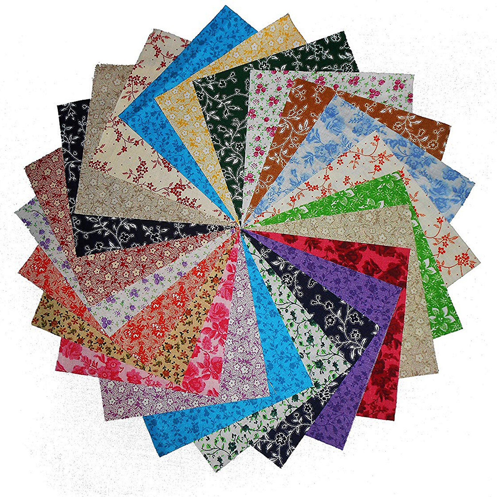 80x5inch Antique Calico Reproductions Charms Quilting Squares