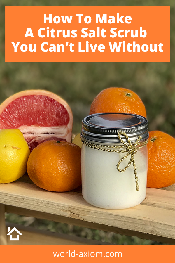 Learn how to make this easy Citrus Salt Scrub you can create in minutes.  The citrus aroma is a great way to start your day!