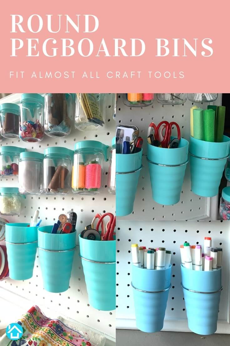 Pegboarc Cups for Craft Tools
