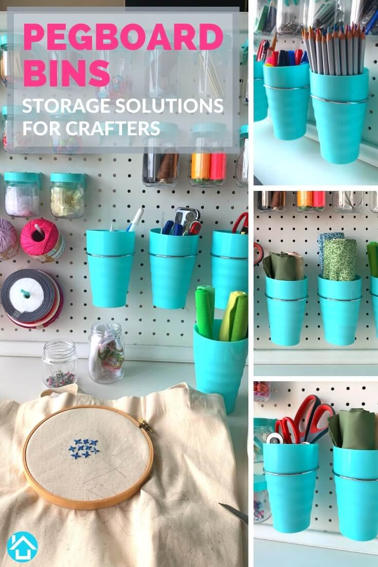 Pegboard Cups for Crafters