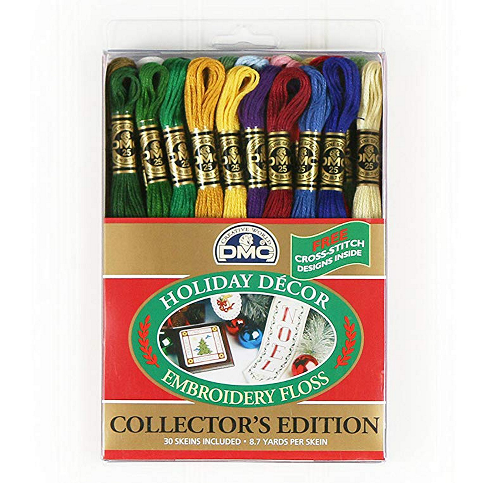 DMC Embroidery Floss Pack 8.7yd, Holiday Decor 30Pkg