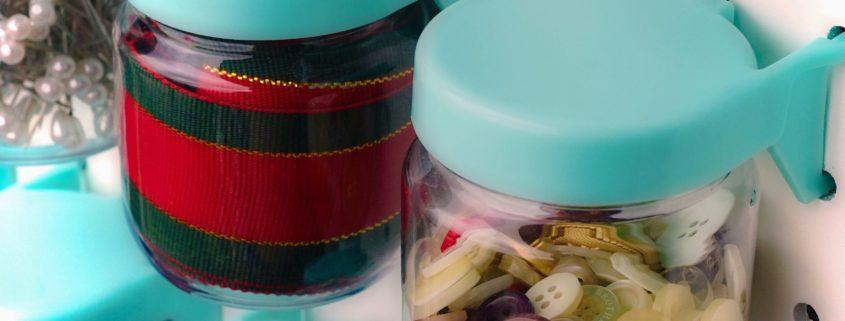 Pegboard Jars (Blue) - Set of 12