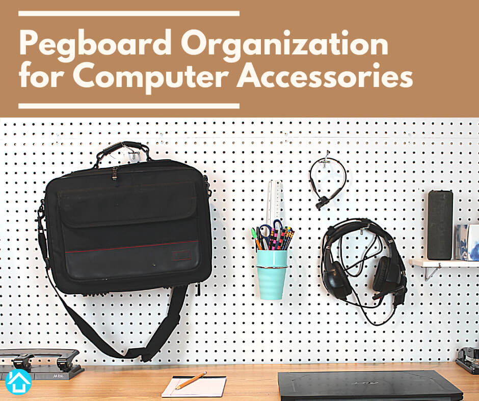 Computer Accessories on pegboard