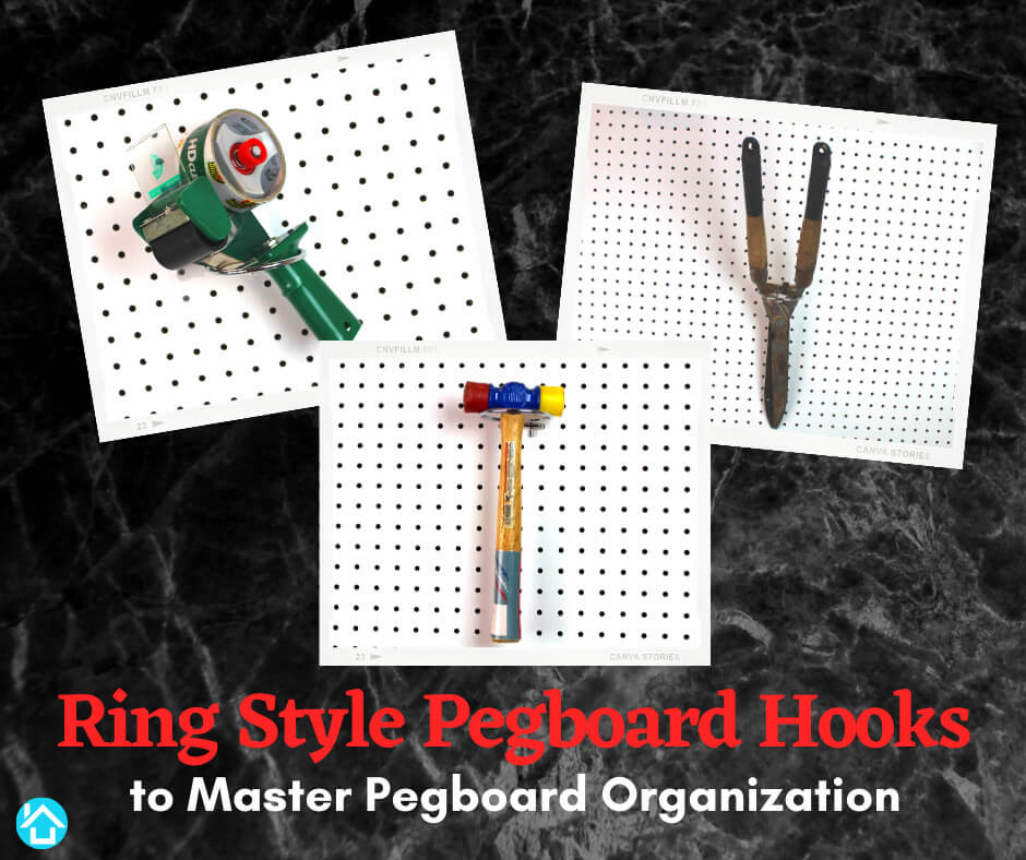 Ring Style Pegboard Hooks To Master Pegboard Organization