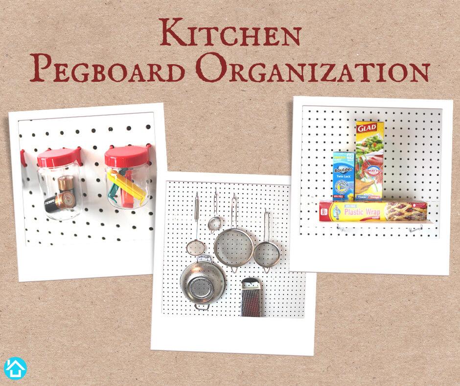 Kitchen Pegboard Organization