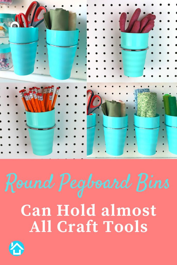 Pegboard Cups Fit Craft Tools
