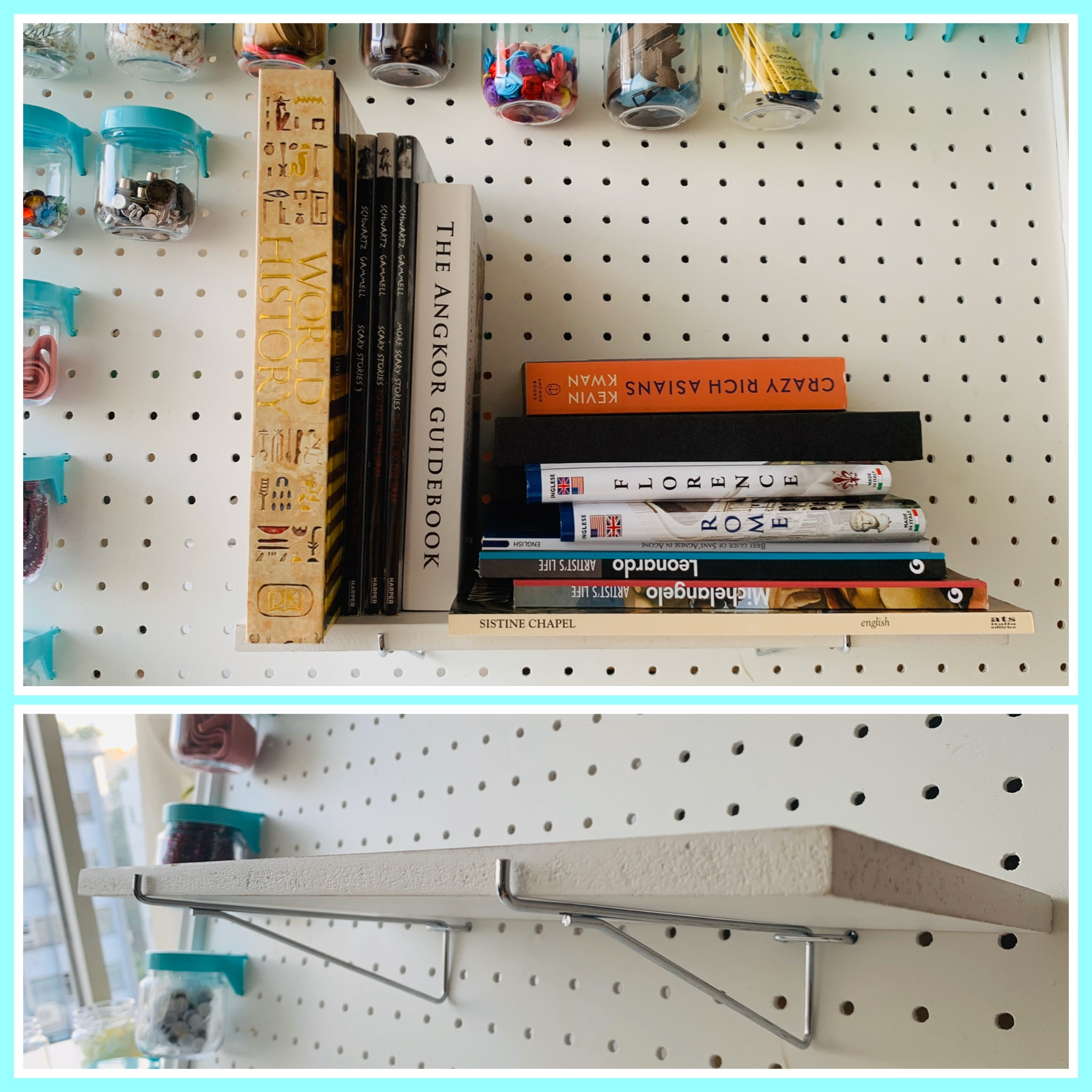 Pegboard Shelf