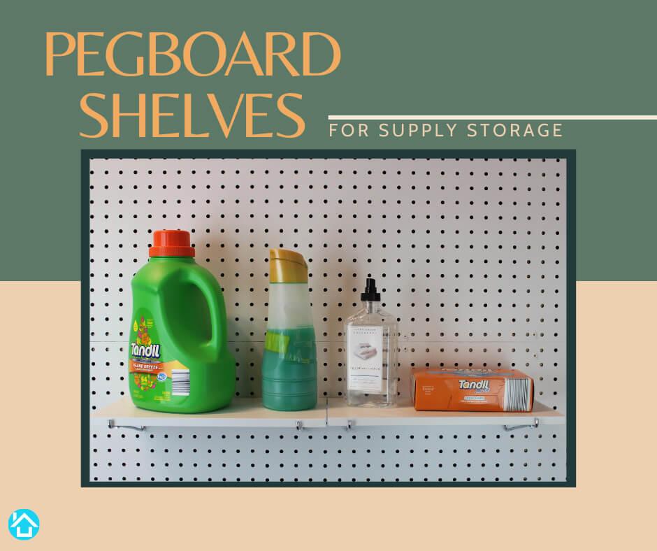Pegboard Shelves Supply Storage 2