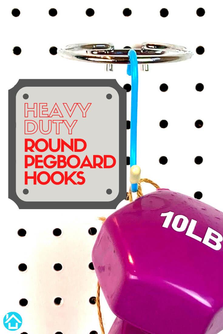 Heavy Duty Round Pegboard Hooks