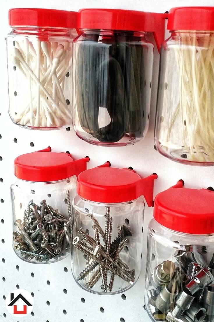 Red Pegboard Jar photo