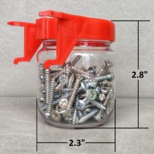 Regular Red Pegboard Jar Size