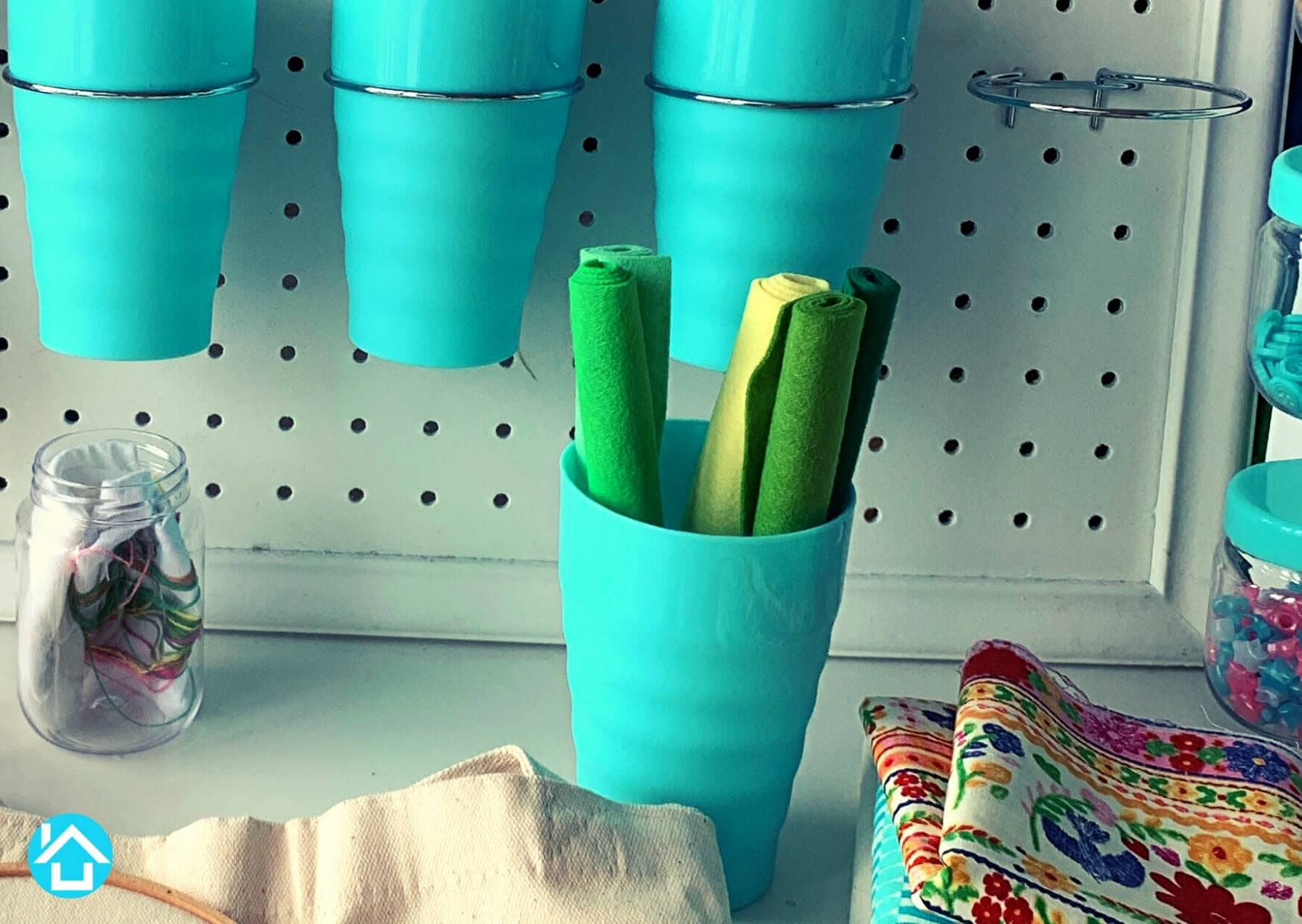 Round Pegboard Bins and Cups