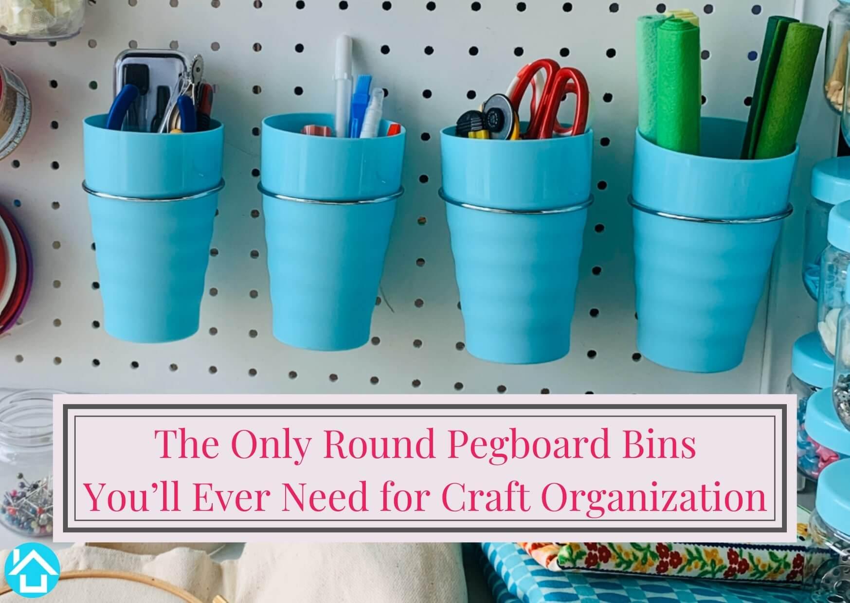 Round Pegboard Bins