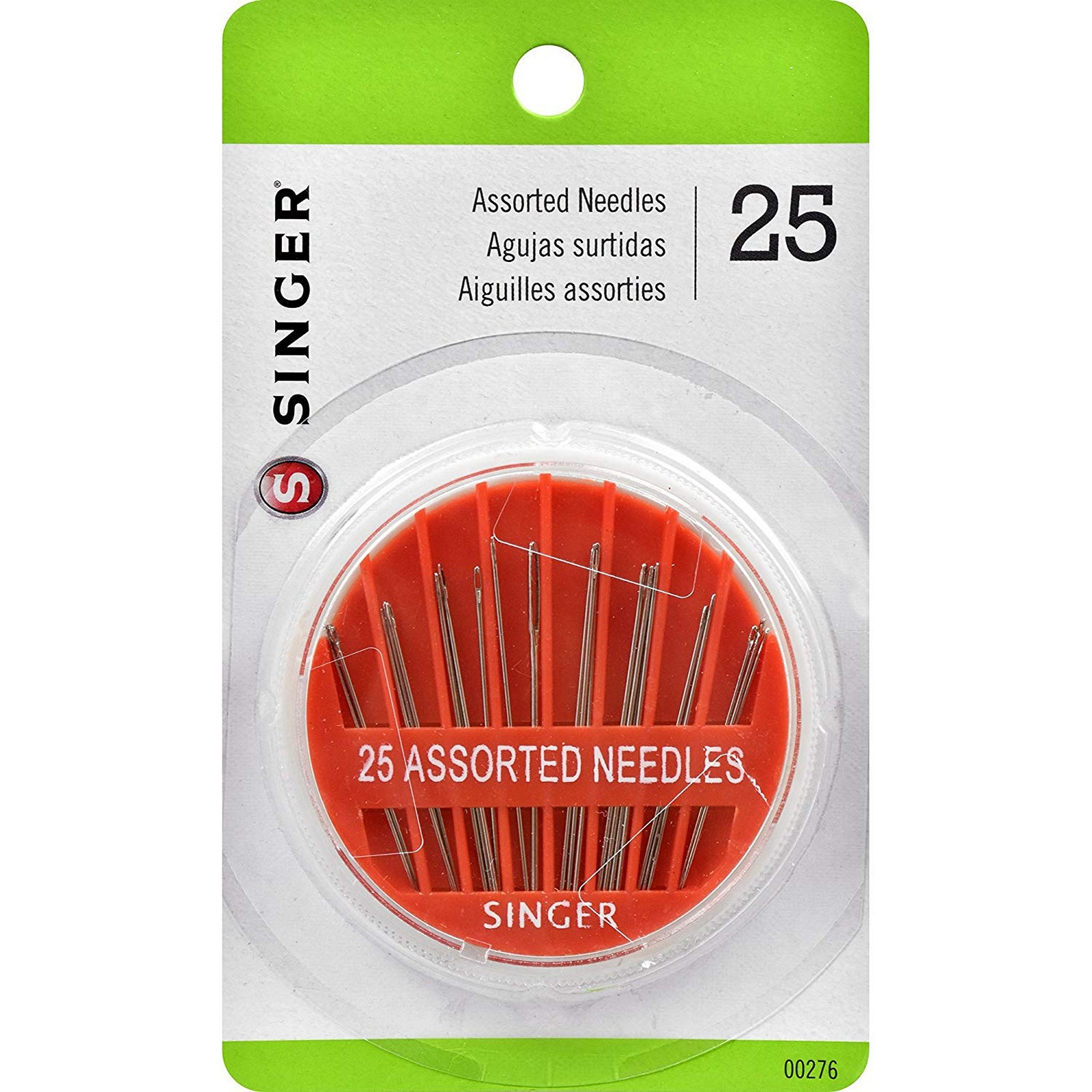 Singer Assorted Hand Needles in Compact, 25-Count
