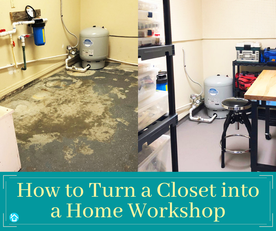 Small Room Ideas - How to Turn a Closet to Home Workshop