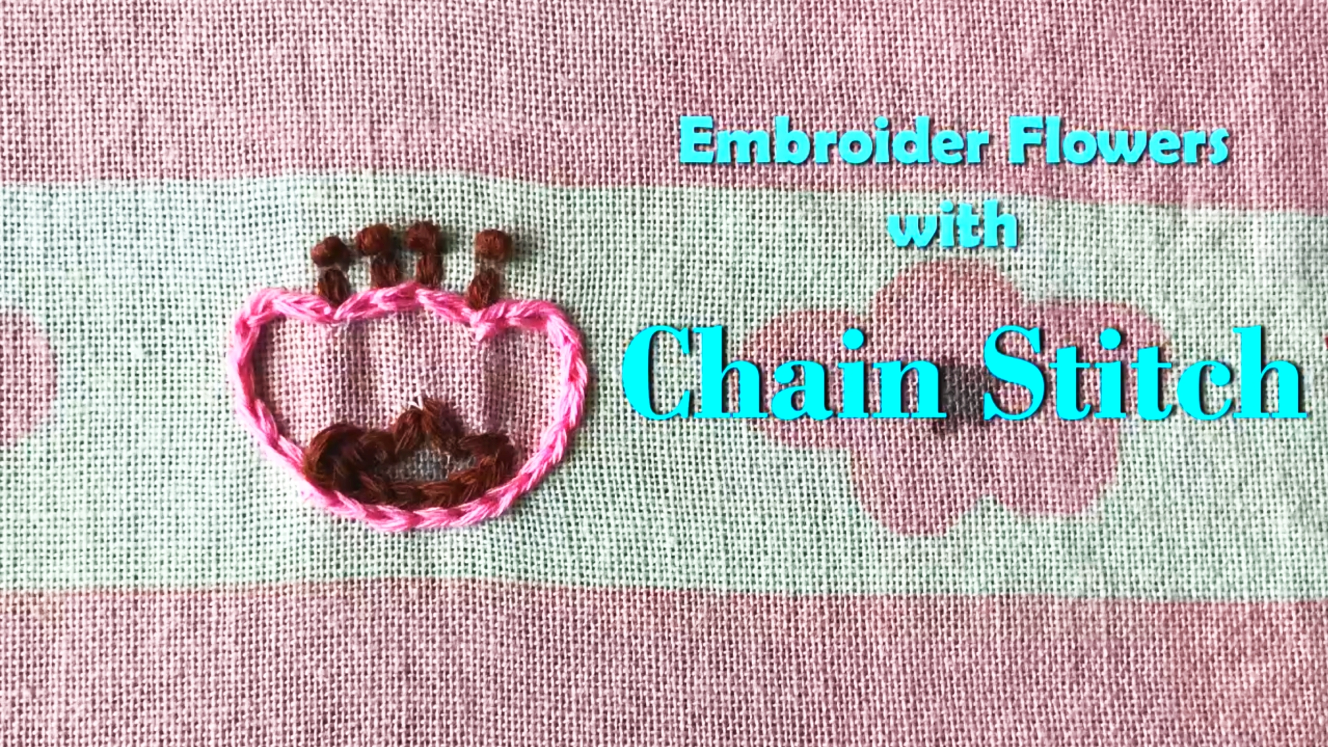 Embroider Flowers Chain Stitch