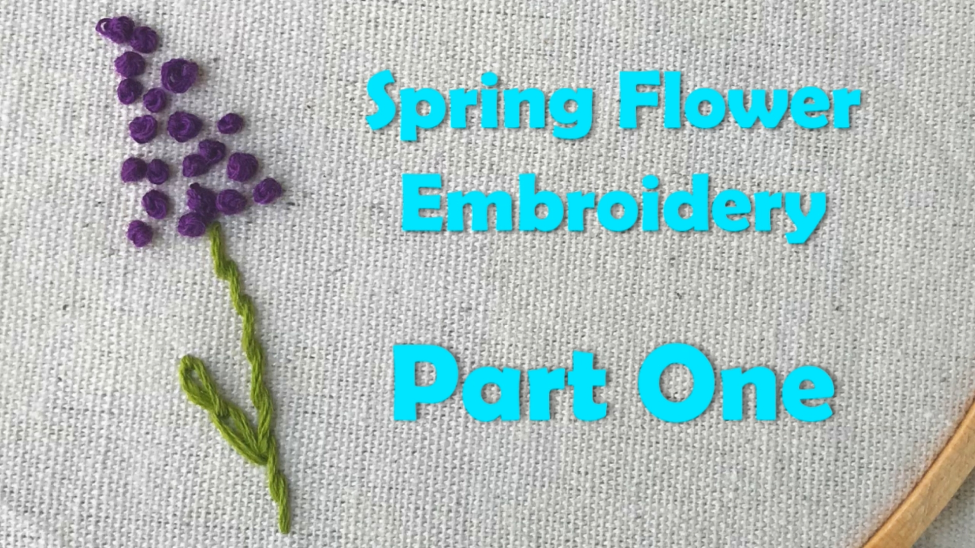 Spring Flower Embroidery