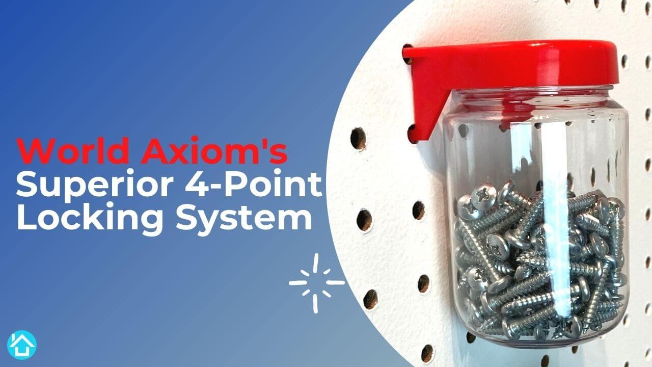 World Axiom Pegboard Jar Locking System