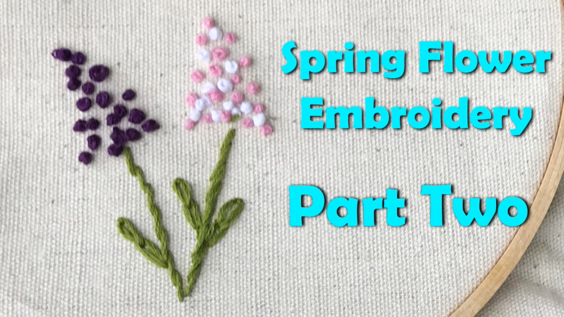 Spring Flower Embroidery - French Knot